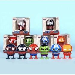 Combo 4 thú nhún emoji lò xo siêu anh hùng