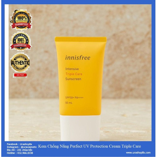 Kem Chống Nắng Perfect UV Protection Cream Triple Care SPF 50+++ 50ml