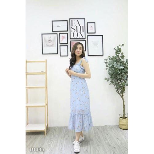 Đầm xanh hai nơ