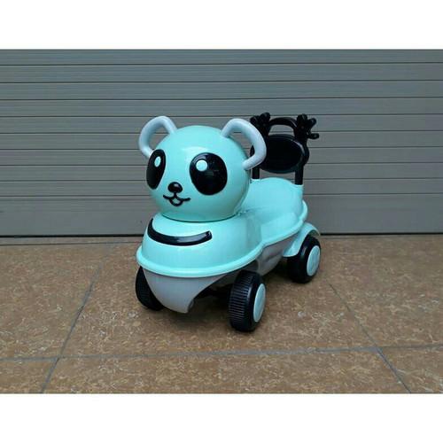 Xe bơi chòi chân hình gấu trúc - có đèn nhạc