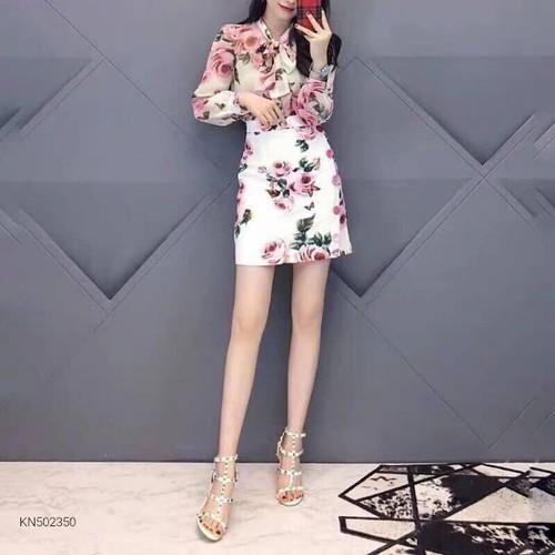 Set bộ hoa hồng áo tay dài nơ cổ chân váy ngắn kèm hình nền chụp thật - 9106899 , 18807832 , 15_18807832 , 350000 , Set-bo-hoa-hong-ao-tay-dai-no-co-chan-vay-ngan-kem-hinh-nen-chup-that-15_18807832 , sendo.vn , Set bộ hoa hồng áo tay dài nơ cổ chân váy ngắn kèm hình nền chụp thật