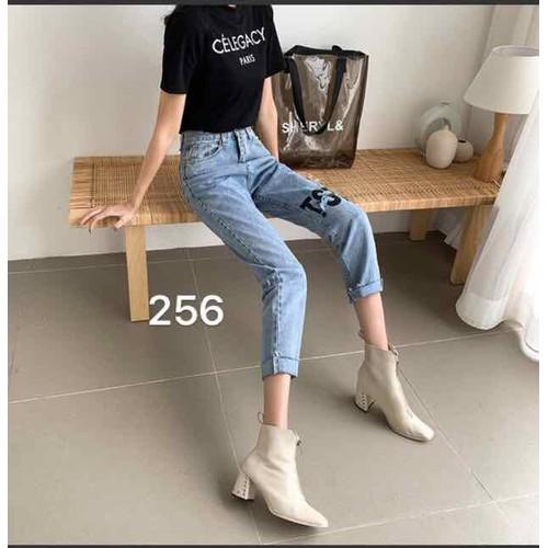 quần baggy jean nữ vải tốt