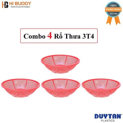 Combo 4 Rổ thưa 3T4 Duy Tân Ø 34 x 10.2 cm No.211