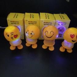 Thú nhún Emoji lò xo có đèn nháy, emoji lò xo, mặt cười nhún nhảy