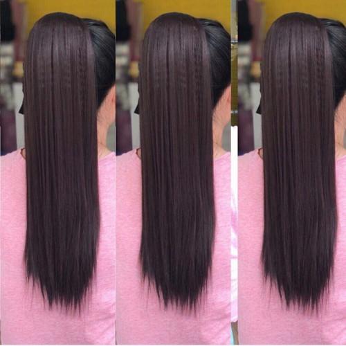Tóc giả tóc ngoặm thẳng siêu xinh hình thật