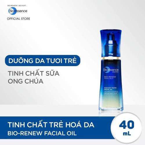 Tinh chất trẻ hóa da dưỡng da tươi trẻ Bio-Essence Bio-Renew Bio-Essence Renew Facial Oil Tinh chất Sữa ong chúa 40ml