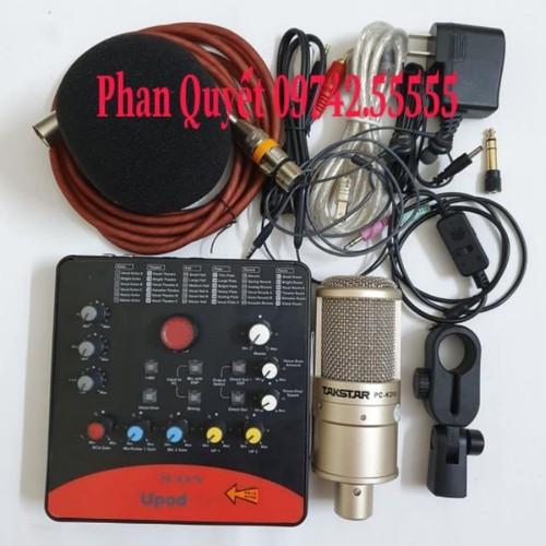 Bộ Combo mic livestream hát karaoke online micro takstar PC-k200 card icon upod.pro dây live MA2 tặng tai nghe - 9109598 , 18811439 , 15_18811439 , 2470000 , Bo-Combo-mic-livestream-hat-karaoke-online-micro-takstar-PC-k200-card-icon-upod.pro-day-live-MA2-tang-tai-nghe-15_18811439 , sendo.vn , Bộ Combo mic livestream hát karaoke online micro takstar PC-k200 card
