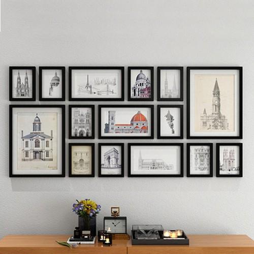 Bộ khung ảnh treo tường quán Cafe, Phòng khách KAD1506