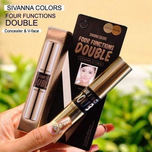 Cây Che Khuyết Điểm Tạo Khối 2 Đầu Sivanna Colors Four Functions Doubl