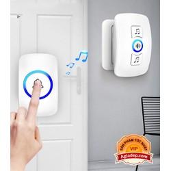 Chuông cửa không dây ADG-X1 siêu xịn - 1 nút bấm dán, treo ngoài cửa và 1 nút chuông cắm ổ điện trong nhà - Vô cùng tiện dụng