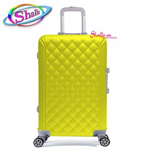 Vali nhựa cứng 20 inch màu tươi lưới hộp SS41 Shalla