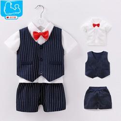Set trang phục hè quý ông cho bé sơ sinh 0-15 tháng