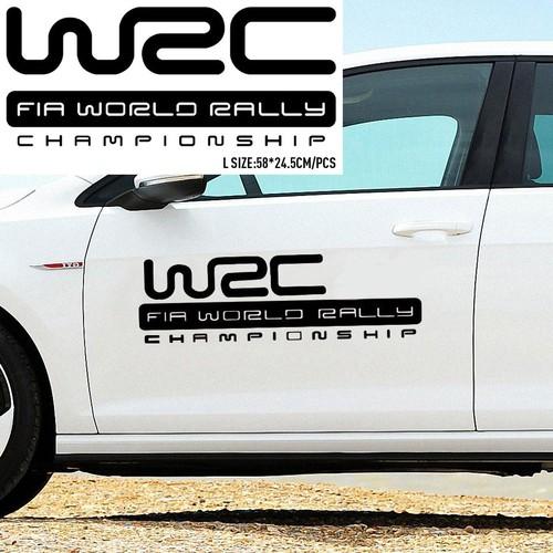 Bộ Decal dán cánh cửa ô tô W2C Championship - Tem dán cánh cửa ô tô - Màu Đen