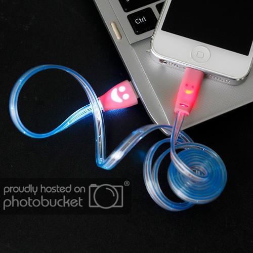 Cáp sạc android có đèn led chống rối
