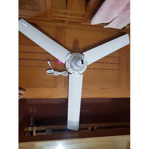 compo 1 quạt trần mini loại đại và máy phun sương 12v60w