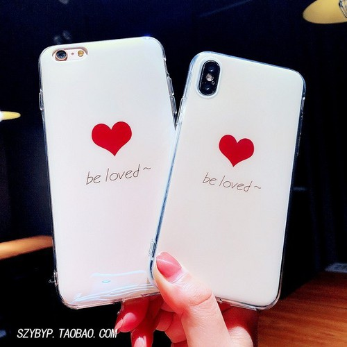 Ốp lưng silicon tim BE LOVED dễ thương
