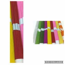 Bó 100 sợi kẽm giấy màu ĐỎ số 24 xuất xứ Thái Lan - nguyên liệu làm hoa voan hoa giấy hoa đất sét