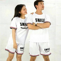 Bộ quần áo thề thao nam nữ Smile