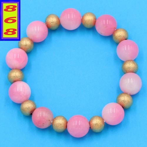 Chuỗi đeo tay - đá ngọc tủy hồng 10 ly VNTHHVT1 - hợp mệnh Hỏa, mệnh Thổ