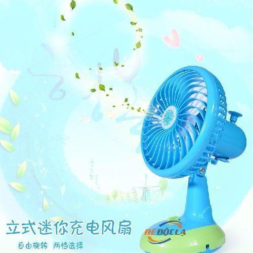 Quạt sạc điện Mini Fan sử dụng pin sạc.