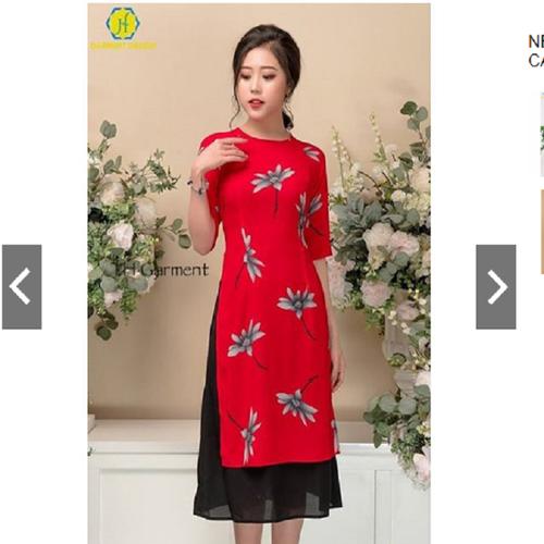 Set Áo Dài Cách Tân Kèm Chân Váy