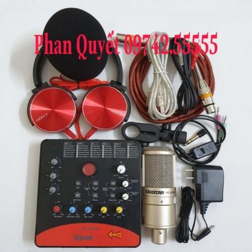 Bộ Combo mic livestream hát karaoke online micro takstar PC-k200 card icon upod.pro dây live MA2 tặng tai nghe 450 - 9109535 , 18811372 , 15_18811372 , 2500000 , Bo-Combo-mic-livestream-hat-karaoke-online-micro-takstar-PC-k200-card-icon-upod.pro-day-live-MA2-tang-tai-nghe-450-15_18811372 , sendo.vn , Bộ Combo mic livestream hát karaoke online micro takstar PC-k200