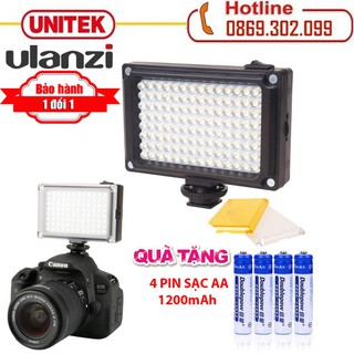 Đèn led mini cho điện thoại, máy ảnh, máy quay phím Ulanzi FT-96LED - Ulanzi 96 bóng + 4 pin 1200A thumbnail