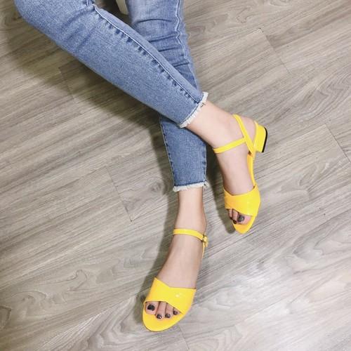 Giày sandal xếp ly cao cấp