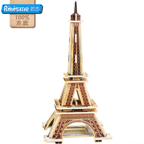 Mô Hình Đồ Chơi Lắp Ráp 3D Bằng Gỗ Trí Tuệ Cho Bé Hình Tháp Eiffel Ti0310