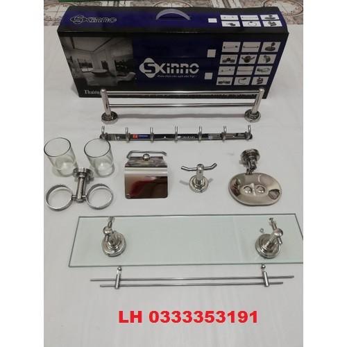 Bộ Phụ Kiện Nhà tắm 7 Món Cao Cấp INOX - 304