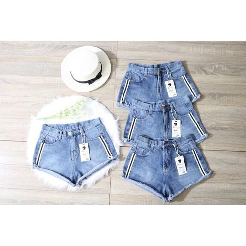 quần short jean nữ 1 sọc - 9113066 , 18816362 , 15_18816362 , 115000 , quan-short-jean-nu-1-soc-15_18816362 , sendo.vn , quần short jean nữ 1 sọc