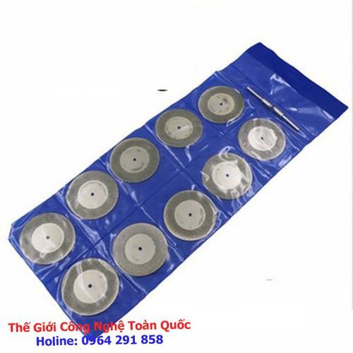 Bộ 10 lưỡi cắt phủ kim cương mini đường kính 20mm chân trục 3mm dùng cho máy khoan mài khắc cắt mini đa năng - 9122378 , 18828853 , 15_18828853 , 65000 , Bo-10-luoi-cat-phu-kim-cuong-mini-duong-kinh-20mm-chan-truc-3mm-dung-cho-may-khoan-mai-khac-cat-mini-da-nang-15_18828853 , sendo.vn , Bộ 10 lưỡi cắt phủ kim cương mini đường kính 20mm chân trục 3mm dùng cho
