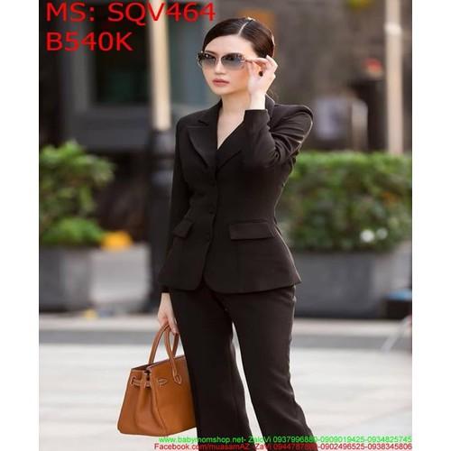 Sét áo vest dài tay và quần dài màu đen sang trọng thanh lịch SQV464 - 9117444 , 18822660 , 15_18822660 , 540000 , Set-ao-vest-dai-tay-va-quan-dai-mau-den-sang-trong-thanh-lich-SQV464-15_18822660 , sendo.vn , Sét áo vest dài tay và quần dài màu đen sang trọng thanh lịch SQV464
