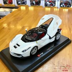 Xe mô hình siêu xe Ferrari LaFerrari tỉ lệ 1:24 hãng Burago màu trắng