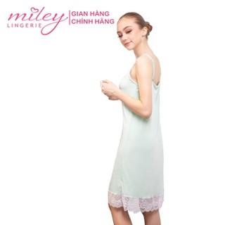Đầm Ngủ Nữ Thun Lạnh Phối Ren Miley Lingerie - Sexy & Comport DML0210 - DML0210 thumbnail