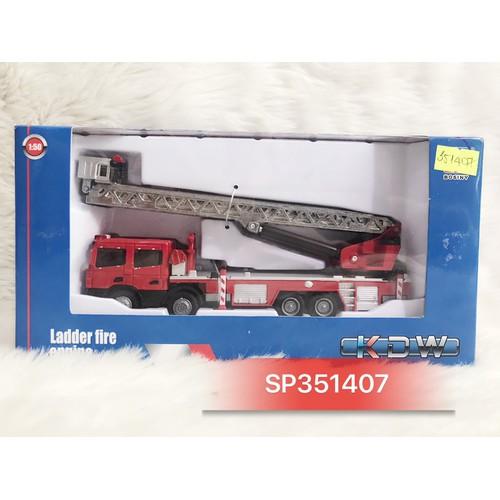 Hộp xe mô hình KDW ct cứu hỏa thang 1:50 625012