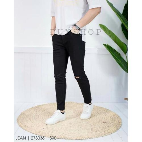 Quần jean nam màu đen