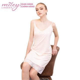Đầm Ngủ Nữ Thun Lạnh Phối Ren Miley Lingerie - Sexy & Comport DML0910 - DML0910 thumbnail