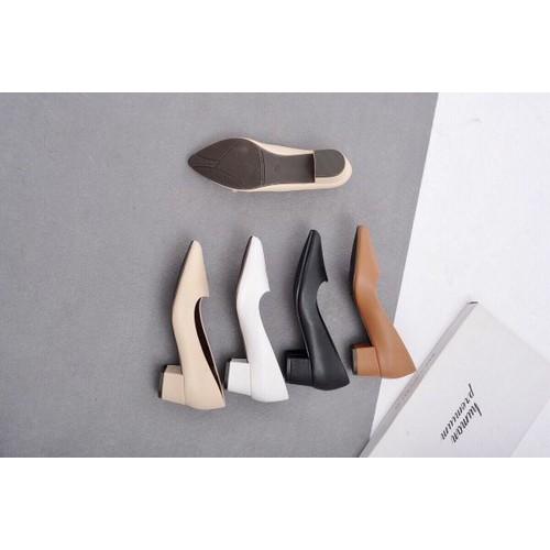 giày cao gót 3 phân đế vuông