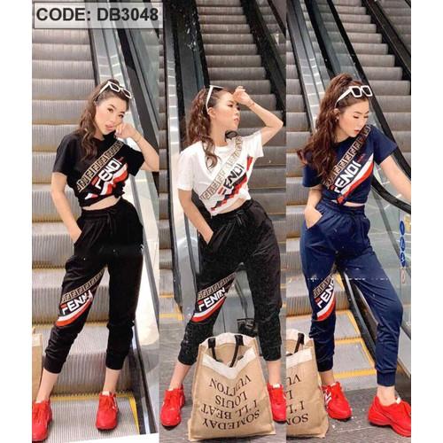 DB3048 - Sỉ 165k - Đồ bộ nữ thun dẽo quần dài