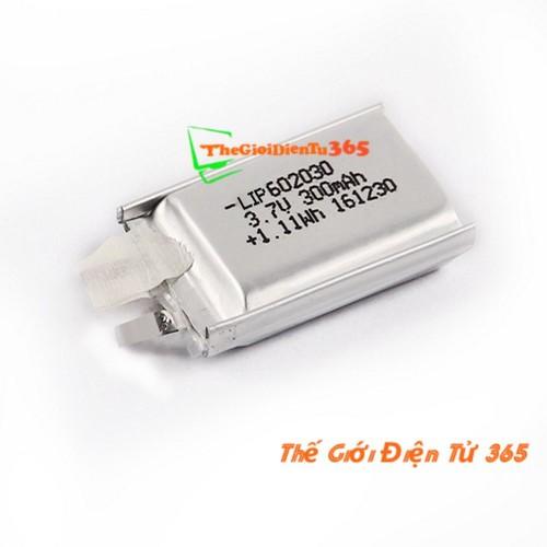 Pin Sạc Lithium 602030 3.7V - 300mAh