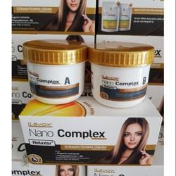 Thuốc Duỗi Tóc Lavox Nano Complex 300ml 150ml 2 Hủ
