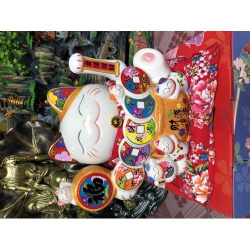 Mèo thần tài may mắn Neko Maneki Kim vận phát tài Phúc đáo lâm môn 25cm vẫy tay kèm đệm và sạc - 9116379 , 18821483 , 15_18821483 , 750000 , Meo-than-tai-may-man-Neko-Maneki-Kim-van-phat-tai-Phuc-dao-lam-mon-25cm-vay-tay-kem-dem-va-sac-15_18821483 , sendo.vn , Mèo thần tài may mắn Neko Maneki Kim vận phát tài Phúc đáo lâm môn 25cm vẫy tay kèm đệ