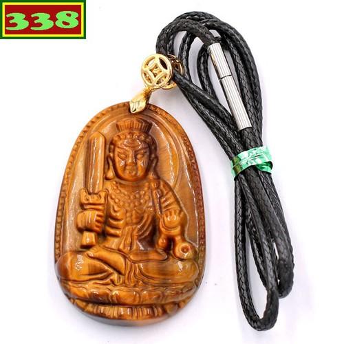 Vòng cổ Bất động minh vương đá mắt hổ 5 cm DEMHN1 - Hộ mệnh tuổi Dậu - Mặt Phật Size lớn