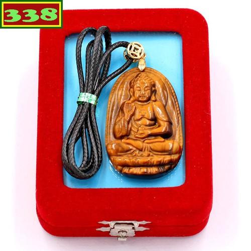 Vòng cổ Phật A Di Đà đá mắt hổ 5 cm DEMHN7 kèm hộp nhung - Hộ mệnh tuổi Tuất, Hợi