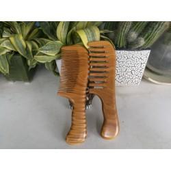 Lược gỗ bách xanh răng thưa và răng mau- lược gỗ chống tĩnh điện,hạn chế xơ rụng tóc -Quà tặng cao cấp- thatchatstore BX01