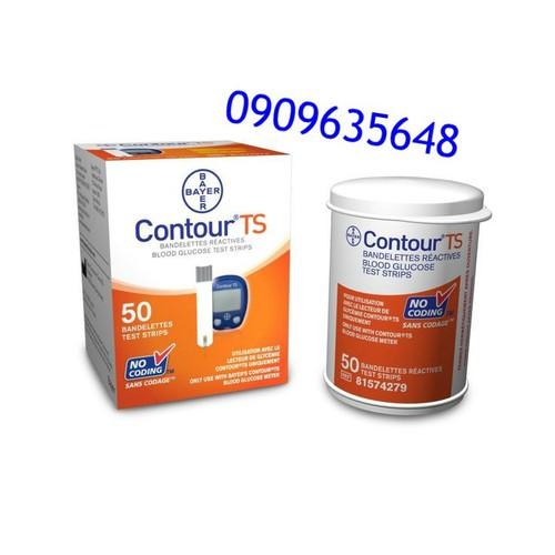 Que thử đường huyết Bayer Contour TS 50