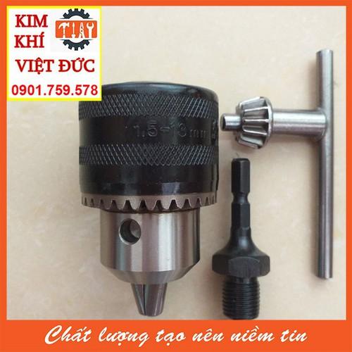 Bộ chuyển đổi đầu cặp mũi khoan 13 ly khóa tay cho máy bắn vít chuôi lục giác 6.35mm: - 9138098 , 18847197 , 15_18847197 , 118000 , Bo-chuyen-doi-dau-cap-mui-khoan-13-ly-khoa-tay-cho-may-ban-vit-chuoi-luc-giac-6.35mm-15_18847197 , sendo.vn , Bộ chuyển đổi đầu cặp mũi khoan 13 ly khóa tay cho máy bắn vít chuôi lục giác 6.35mm: