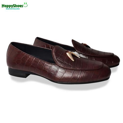 Giày Lười Nam Da Bò Thật Happyshoes HS40