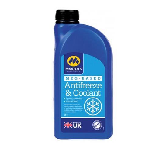 Nước làm mát màu xanh Morris MEG Antifreeze and Coolant 1 lít